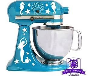Overly Attached Decals Nautical Mermaid Stand Mixer